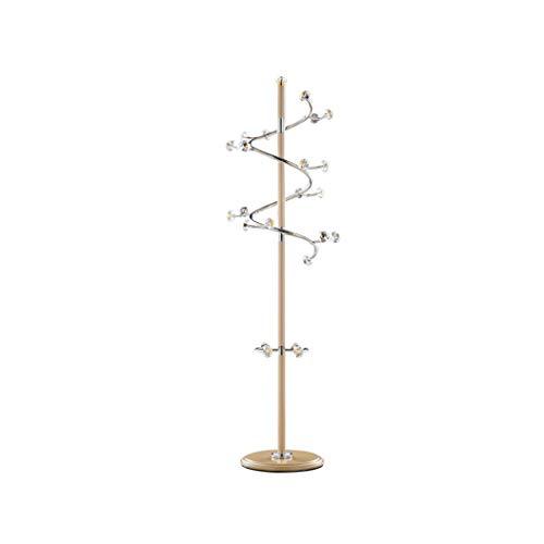 Kapstok Hanger Floor roestvrij staal Black White Gold 23 Crystal Ball Hooks 360 deg;Draaibaar, Slaapkamer Hangen Simple Modern Huis Kapstok (Kleur: Goud) LQH (Color : Gold)