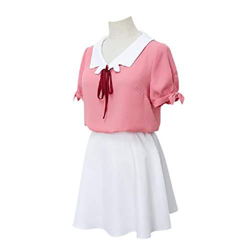 YYFS Traje de Anime Cosplay, Juego cmico Cosplay Uniforme, Fiesta de Carnaval, Rosa Top, Falda Blanca y Cuerda de Cuello,Clothing Suit-Large