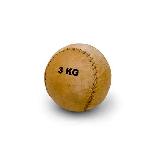 Vinex Balón Medicinal de Cuero pequeño y sólido - 3 kg - 16 cm
