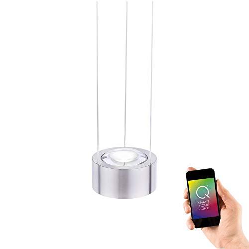Preisvergleich Produktbild Paul Neuhaus,  Q-Lens,  LED Pendelleuchte,  Alexa-fähig,  Smart Home,  Pendellampe,  dimmbar mit Fernbedienung,  RGB-Farbwechsel,  Farbtemperatur einstellbar,  Up- and Down-Light,  warmweiss - kaltweiss