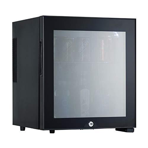 HWG Mini-Gefrierschrank 30L Kühlschrank Mit Glastür Mini-Kühlschrank Minibar Kunststoffsteckdose Innenbeleuchtung Für Kleine Haushalte