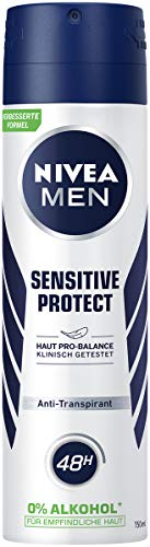 NIVEA MEN Sensitive Protect Deo Spray (150 ml), Antitranspirant für sensible Haut, Deodorant mit 48h Schutz