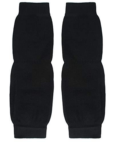 ShopOlica Unisex Woolen Thermal Warm Leg Warmers and Finger less Long Socks Protective Knee Cap (Black, 1)