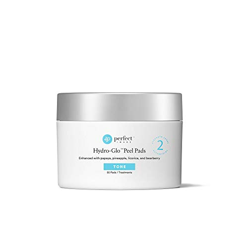 Hydro-Glo 40% Skin Brightening Peel Pads, Enhanced with Lactic Acid, Mandelic Acid, Glutathione, Kojic Acid, Licorice, Papaya, Pineapple, and Bearberry Extracts - Perfect Image