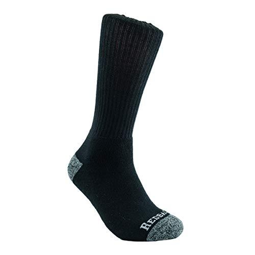 Redback Boots Everyday Bamboo Viscose Fiber Lightweight Crew Sock (Black, 1)