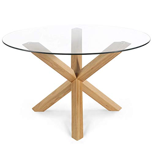 POLY & BARK Kennedy 48' Round Dining Table, Natural