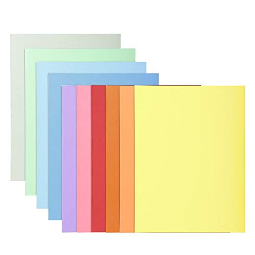 Exacompta - Réf. 330100E - Paquet de 10 chemises Super 210 carte rigide format 24x32 cm 210 grammes pour documents A4 - coloris assortis