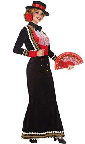 Atosa 53863 Disfraz Cordobesa XS-S Mujer Negro, Color