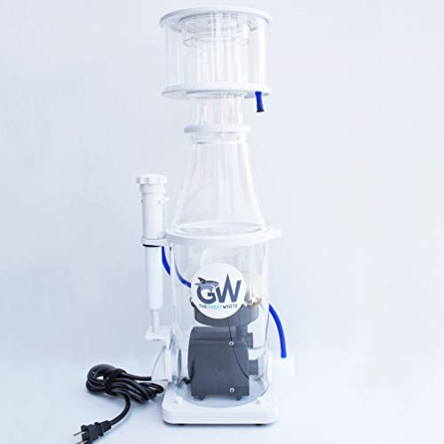 Dalua Great White Protein Skimmer GW-5 Ultra Quiet Sturdy Injection Mold Design Italian Eden Pump High Efficiency for Reef Saltwater Aquarium Best Fish and Coral Filtration, in-Sump Design