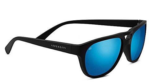 Serengeti 8283 Tommaso, montatura nera satinata, lenti polarizzate 555nm blu