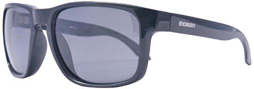 Ocean Sunglasses - Blue Moon - lunettes de soleil polarisées - Monture : Jaune/Bleu Marine - Verres : Fumée (19202.22)