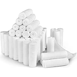 D&H Medical 24 Bulk Pack Gauze Stretch Bandage Roll, 4 Inch X 4 Yards FDA Approved, Used for Wound Care, Easy to Use Cotton Ply Rolled Hand Wrap Dressing Ankles & Knees. Add to First Aid Supplies. 8 <p>✅ THE BEST BANDAGE FOR YOUR RECOVERY: When it comes to your care, the last thing you want is a bandage that is flimsy, poor and cheap. That's why our professional-grade gauzes are designed for maximum protection and comfort for your full recovery, every time. ✅ RECOMMENDED FOR SURGERY AFTER CARE: Wound care, incisions or injuries. Keep your wounds dry and protected from infections and contaminants. Our stretch gauze is fully tested before use so you can concentrate 100% on your healing process. ✅ THE TRUSTED PROFESSIONAL'S CHOICE: Meticulously researched and developed by health professionals for use in the real world. Our unique micro-weave texture is strong and durable, yet soft and easy to handle for instant practical use. ✅ JUST STRETCH, WRAP, SNIP: We provide 4 yds x 4 inch length per set so you can use as much or as little gauze as you need for the comfort that's right for you. Whether in the hospital or healing at home, our gauze provides maximum absorption for minimum bleed-through. ✅ OUR QUALITY PROMISE: Buy once and buy right – don't cut corners with your health on cheap and flimsy alternatives. Click add to cart and get ready to enjoy total peace of mind with the best bandage gauze for any medical situation. We guarantee you'll be satisfied of your money back. No hassle, no fuss. You have our promise.</p>