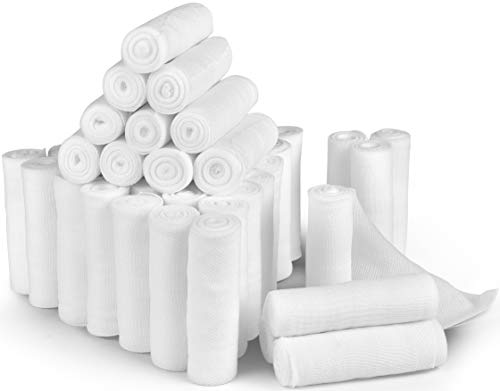 D&H Medical 24 Bulk Pack Gauze Stretch Bandage Roll, 4 Inch X 4 Yards, Used for Wound Care, Easy to Use Cotton Ply… 1 ✅ THE BEST BANDAGE FOR YOUR RECOVERY: When it comes to your care, the last thing you want is a bandage that is flimsy, poor and cheap. That's why our professional-grade gauzes are designed for maximum protection and comfort for your full recovery, every time. ✅ RECOMMENDED FOR SURGERY AFTER CARE: Wound care, incisions or injuries. Keep your wounds dry and protected from infections and contaminants. Our stretch gauze is fully tested before use so you can concentrate 100% on your healing process. ✅ THE TRUSTED PROFESSIONAL'S CHOICE: Meticulously researched and developed by health professionals for use in the real world. Our unique micro-weave texture is strong and durable, yet soft and easy to handle for instant practical use.