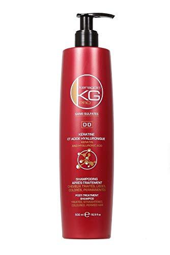 KERAGOLD PRO DD - Champú sin sulfatos con queratina/ácido hialurónico 500 ml - 1 unidad