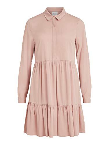 Vila Women's VIMOROSE L/S Shirt Dress/SU-NOOS, Misty Rose, 6