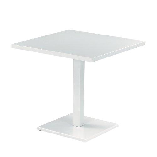 emu Round Gartentisch, weiß matt LxBxH 80x80x75cm