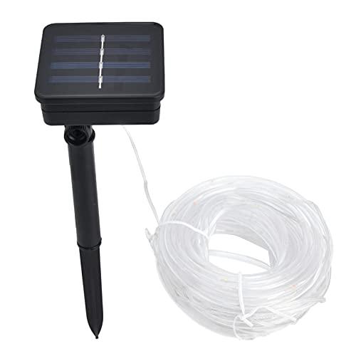 BOLORAMO Luz Solar De Cuerda, 8 Horas De Uso Envoltura De Manguera De PVC Decoración De Jardín Luz Solar para Luces De Decoración De Jardín