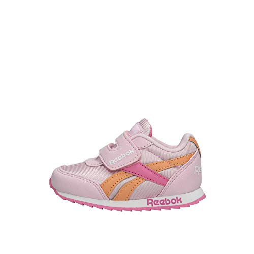 Reebok Baby Mädchen Royal Classic Jogger 2.0 Laufschuh, Pixel Pink/Posh Pink/Sunbaked Orange, 20 EU