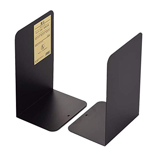 MINGZE 1 par / 2 piezas Sujetalibros, Negro Sujetalibros de