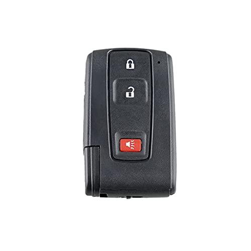 1pc 3 botones Tecla remota Shell con pequeña llave resistencia al desgaste duradera tiempo de uso duradero para el juguete Prius 2004 2009 Accesorios de coche