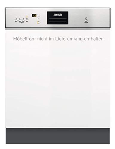 Zanussi ZDI26022XA Integrierter-Geschirrspüler / 60cm / AirDry - perfekte Trocknungsergebnisse / energiesparend / Besteckkorb / Glasprogramm / Beladungserkennung / Intensivprogramm / Display