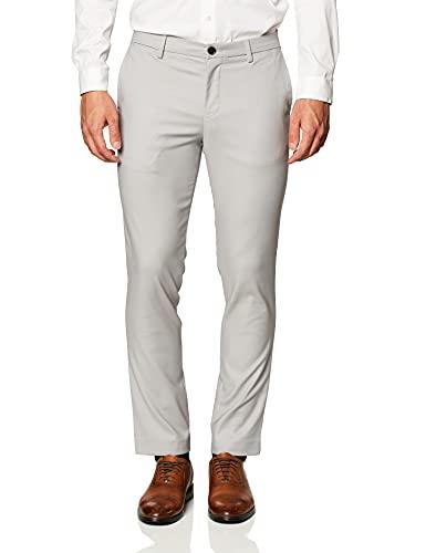 Calvin Klein Men's Modern Stretch Chino Wrinkle Resistant Pants, Alloy, 34x32