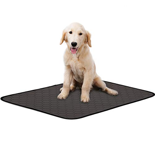 Washable Large Pee Pads for Dogs, 4 Layers Waterproof/Soft-Touch/Super Absorbing/Anti-Slip Machine Washable Dog Training Puppy Wee Whelping Pad for Home Apartment Travel, 40x26inch, Grey (1 Pack)