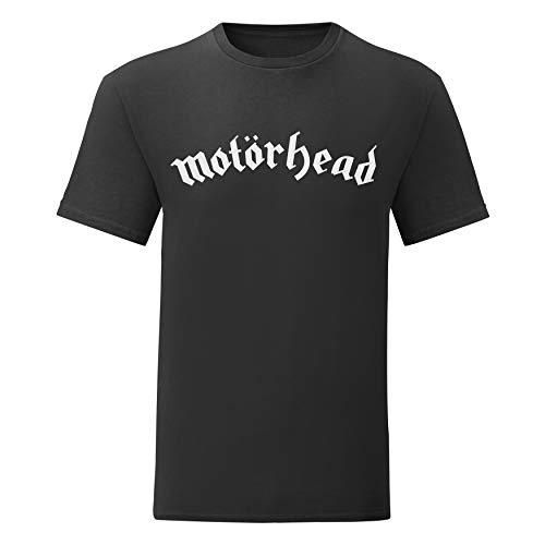 LaMAGLIERIA Camiseta Hombre Motörhead - t-Shirt Rock Metal Band 100% algodón, L, Negro