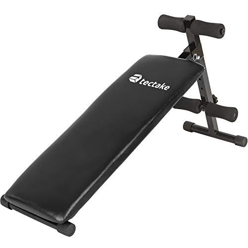 TecTake Panca per Addominali 120 cm x 33 cm x 63 cm Fitness Palestra Pesi Allenamento Regolabile
