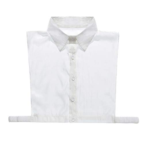 RROVE Solid Color Shirt Fake Collar Detachable Square Point False Collar Lapel Blouse