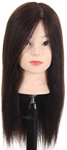 Mannequins de couture reglable Formation pratique Head Maquillage Head Mannequin Tressé cheveux Styling Salon de coiffure coupe de cheveux factice Modèle de tête perruque de cheveux Noir porte vêtemen