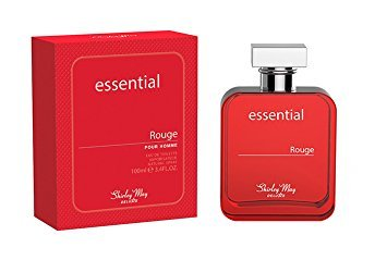 Essential Rouge for Men EDT - Eau De Toilette 100ML (3.4 oz) | Arabian Perfumery | Floral & Citrusy Blend of Lavender, Amalfi Lemon, and Cypriol | Everyday Essential | by Shirley May Perfumes