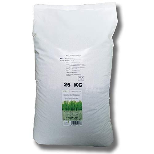 baumgrün 25kg Rasendünger Kurzzeitwirkung Langzeitwirkung mineralisch Volldünger Grasdünger NPK+ Sportrasen Spielrasen Zierrasen Dünger Nährstoffdünger (25 kg)