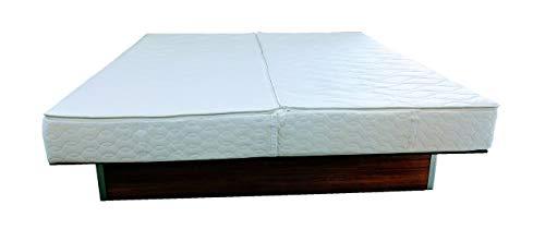 WABEZU Bezug + 2. Oberteil zum Wechseln, kein Wasserbett-Abbau nötig, Softside Wasserbett Auflage mit Reißverschluss, Matratzenauflage Lyocell, Matratzenschoner, Wasserbett Rundumbezug (200 x 220 cm)