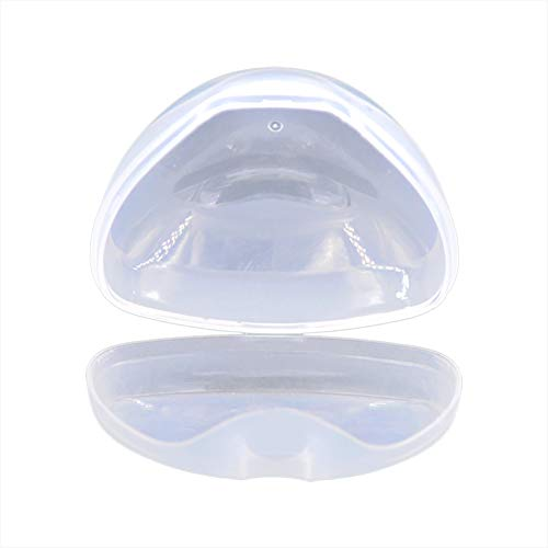 BEAUTYBIGBANG 2PCS Dummy Case Transparent Pacifier Case Non Toxic Portable Nipple Shield Carrying Case Soother Pod Pacifier Holder Box for Kids