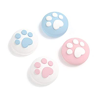 GeekShare 4PCS Silicone Cat Claw Joy Con Thumb Grip Set Joystick?Caps Switch and Switch Lite Cover Analog Thumb Stick Grips (Cat Claw 01)