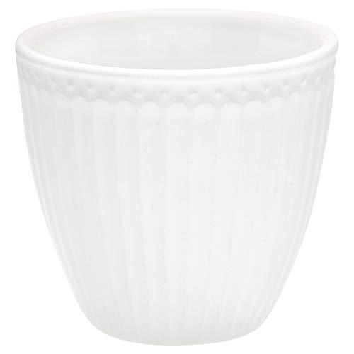 GreenGate STWLATAALI0106 Alice Latte Cup White 9 cm (1 Stück)
