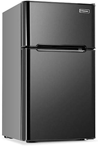 Euhomy Mini Fridge with Freezer 3 2 Cu Ft Compact Refrigerator with freezer 2 Door Mini Fridge product image