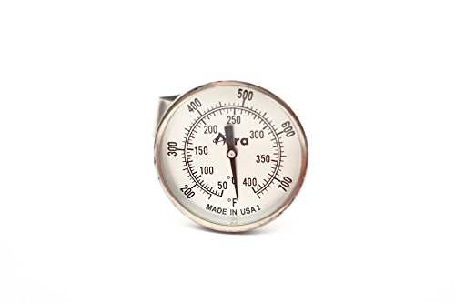 Aura Outdoor Products Non-Digital TPT Tel-Tru Temperature Gauge Thermometer for Big Green Egg, Kamado Joe, Primo, Vision Grills and More