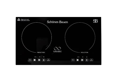 Schönes Bauen Nuremberg 1600W Induction Cooktop Built-In or Portable Double Induction Burner Plate. 120V Electric Stove For Cooking 27 inches