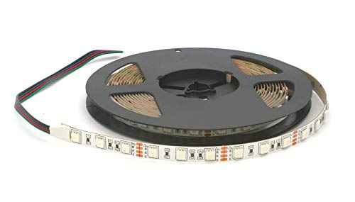 Bobine bande 300 LED 5050 SMD RGB 5 m avec Adhésif double face 3 m Lumière Rouge/vert/bleu Usage intérieur