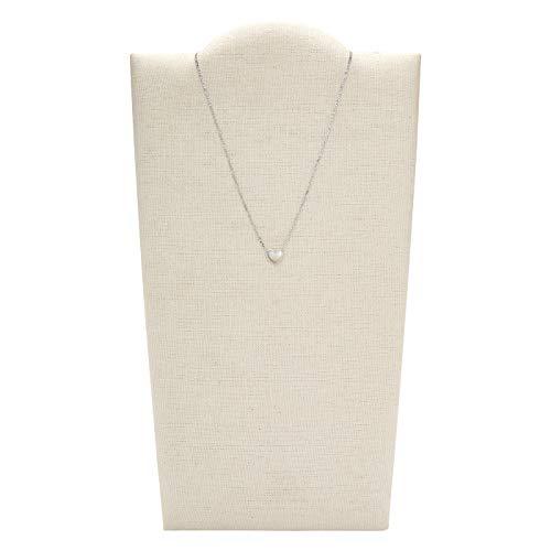 Fossil Damen Halskette Heart Perlmutt Sterlingsilber, JFS00444040