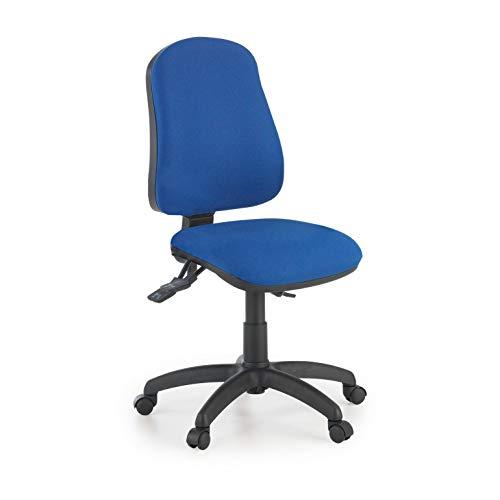 ofiprix | Silla Eco2 | Silla Giratoria de Oficina | Silla de Escritorio Tapizada | Color Azul