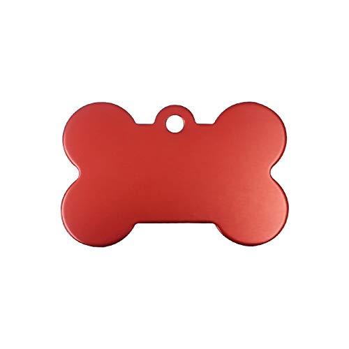 Placas Para Perros 3 PCS grabado personalizado anti-perdido ID de identificación de la etiqueta de identificación de la mascota personalizada Nombre de la mascota Puppy Colllar Dog Cat Bone Tags Sumin