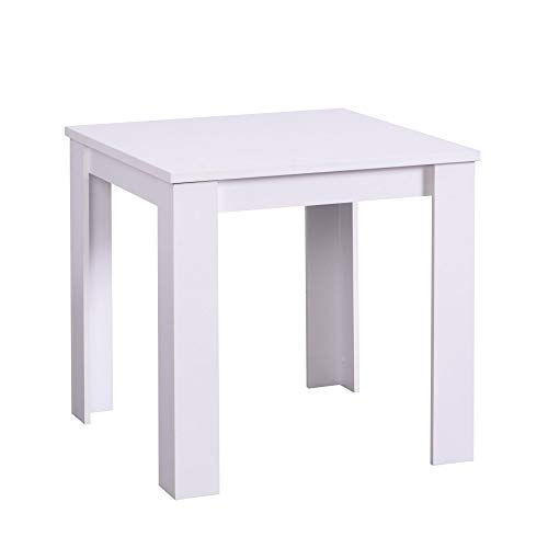 Tavolo da Pranzo 80x80 - Jeri, Bianco opaco