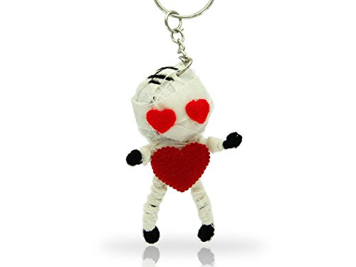 Alsino Voodoo Puppe Püppchen Sorgenpüppchen Voodoopuppe Glücksbringer Voodoll Schlüsselanhänger, wählen:SA-V120 Mumie mit Herz