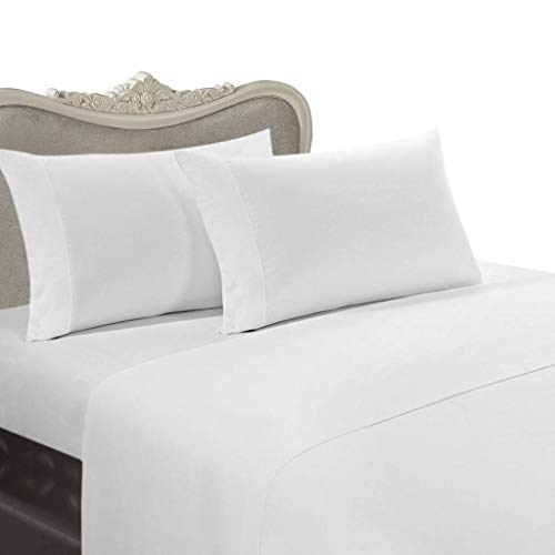 800-Thread-Count Egyptian Cotton 4pc Bed Sheet Set Twin White Solid 58754ae4f