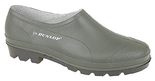 Dunlop UNISEX Green Slip On gardening shoes Clogs Low Cut Wellies Uk10