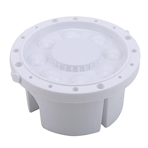 Cubo de lavado portátil multifuncional con paleta con titular de la pluma y cubo de acuarela especial retráctil y portátil (Color : White)