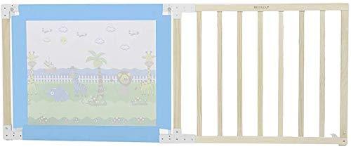 NMDD Bettgitter Bettgitter Holz für Kleinkinder Halboffene Tür Babybettgitter Blau Atmungsaktives Gitterbettgitter für Kinder (Größe: 200 cm)